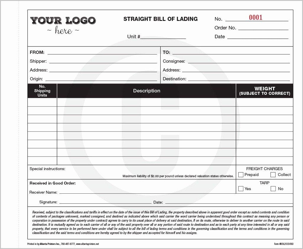 Hazmat Bill Of Lading Template Lovely Bill Lading Template Alberta Template Resume