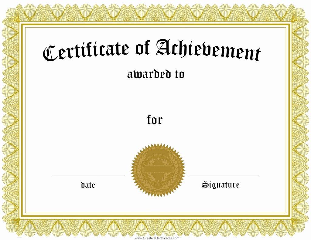 High Quality Certificate Paper Elegant Free Certificate Maker
