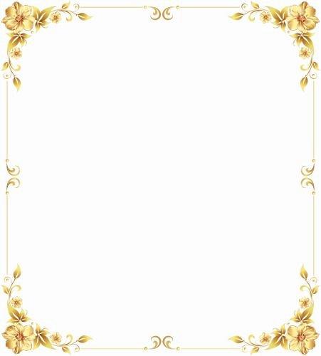 High Quality Certificate Paper Elegant Gold Frame Material Frame Shading Gold Shading Shading