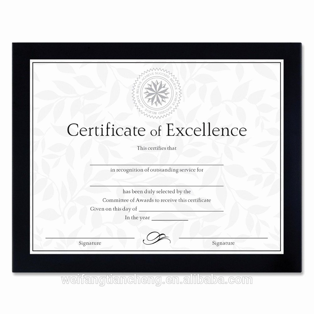 High Quality Certificate Paper Fresh High Quality Dark Wood Certificate Frames Sizes wholesale
