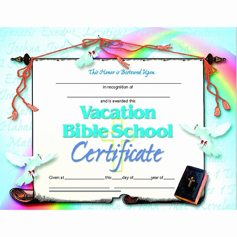 High Quality Certificate Paper Inspirational Vacation Bible School Set Of 30 Products