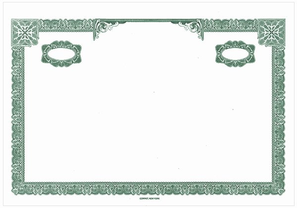 High Quality Certificate Paper New Blank Stock Certificates Border Ly Certificates