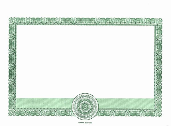 High Quality Certificate Paper Unique Border Ly Certificates Corpkit Border Certificates
