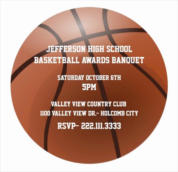 High School Basketball Awards Ideas Lovely 15 Award Invitation Templates Psd Word Ai