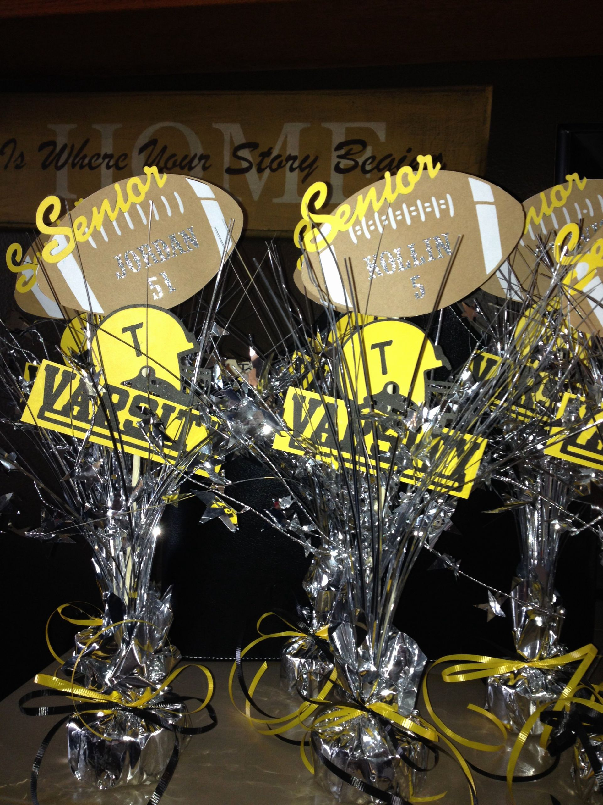 High School Basketball Awards Ideas New Football Banquet Senior Keepsakes Table Decor