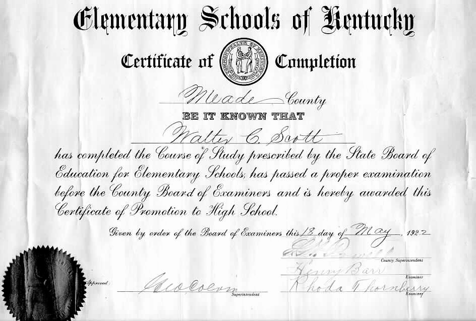 High School Certificate Of Completion Example Awesome Pletion for Elementary School Promotion Into the Junior