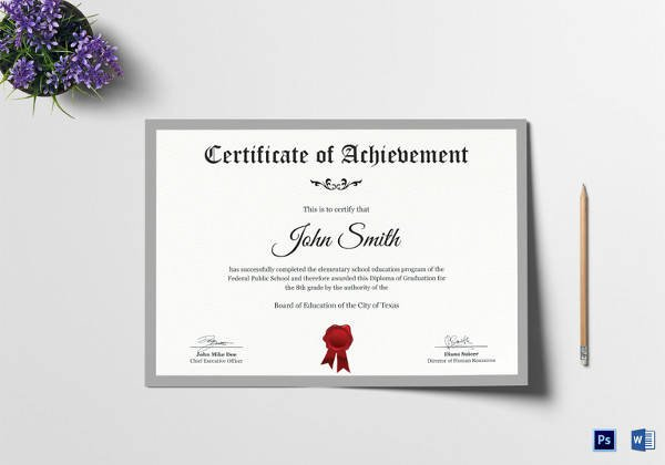 High School Certificate Of Completion Example Luxury Free 40 School Certificate Templates In Samples Examples