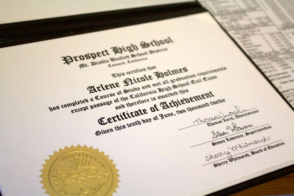 High School Certificate Of Completion Example New Governor Signs Bill Allowing Diplomas for Students who