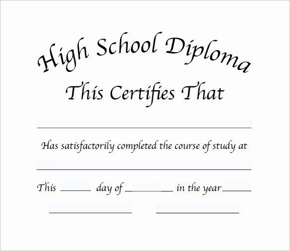 High School Certificate Template Luxury Diploma Certificate Template – 25 Free Word Pdf Psd