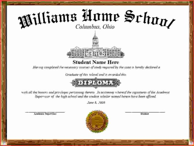 High School Certificate Template Unique 25 High School Diploma Templates Free Download