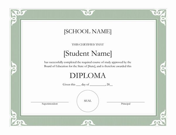 high school diploma certificate fancy design tm