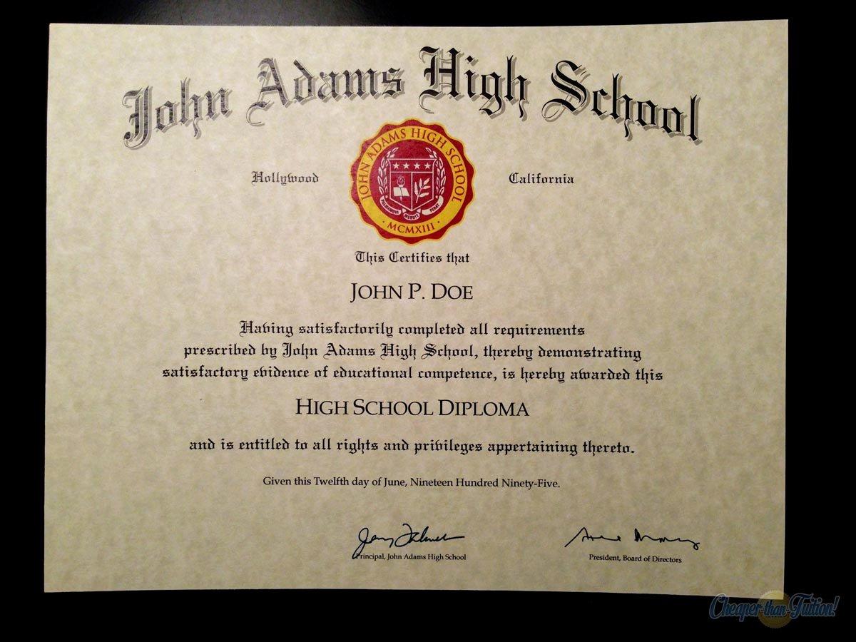 High School Graduation Certificate Template Luxury 60 Free High School Diploma Template Printable