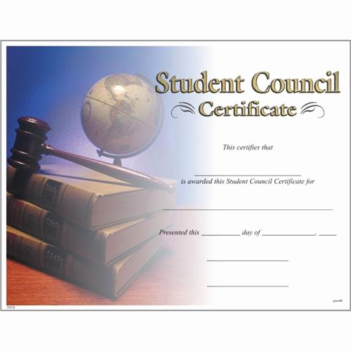 Hole In One Certificate Template Best Of Student Council Certificates Student Council