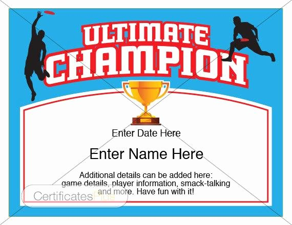 Hole In One Certificate Template Best Of Ultimate Certificate Ultimate Disc Award Ultimate Frisbee