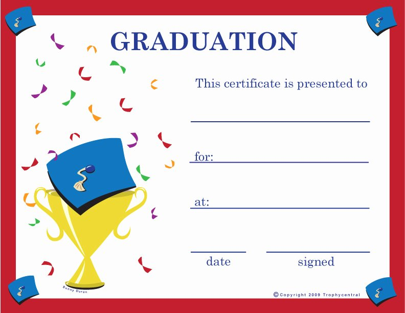 Hole In One Certificate Template Inspirational Free Graduation Certificates Certificate Free Graduation