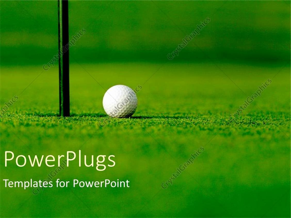 Hole In One Certificate Template Luxury Powerpoint Template Golf Course with White Golf Ball Next