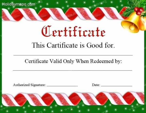 Holiday Gift Certificate Template Beautiful Gift Certificate Template Free Holidaymapq