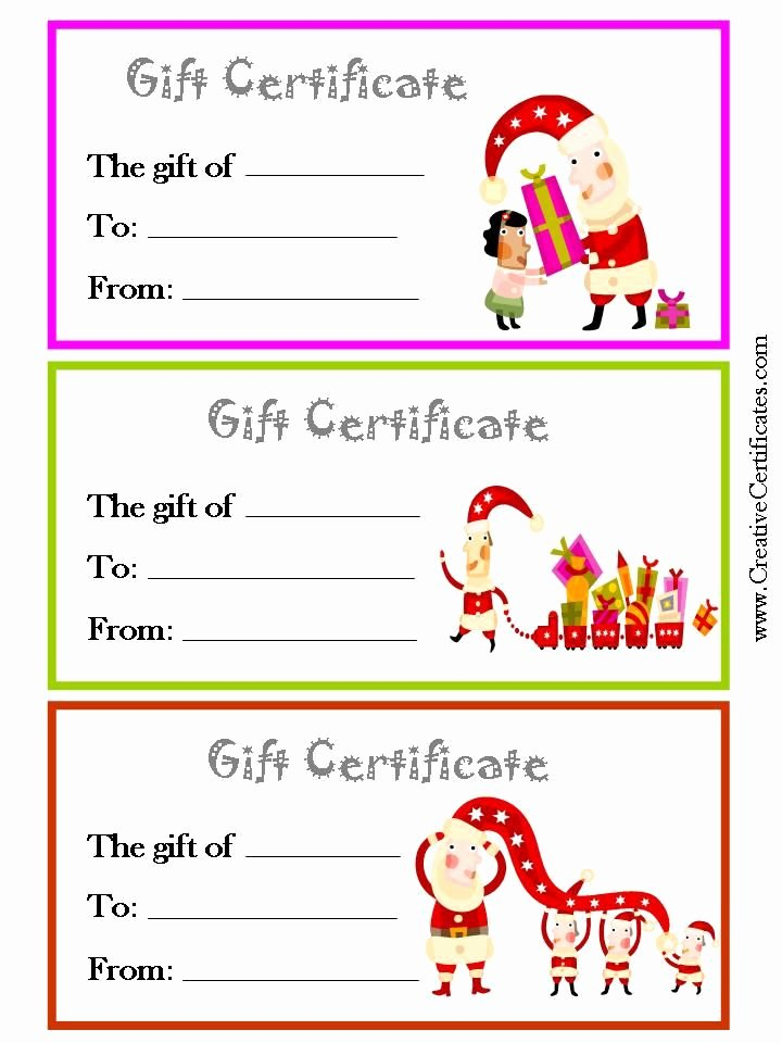 Holiday Gift Certificate Template Elegant Christmas T Certificates 720×960