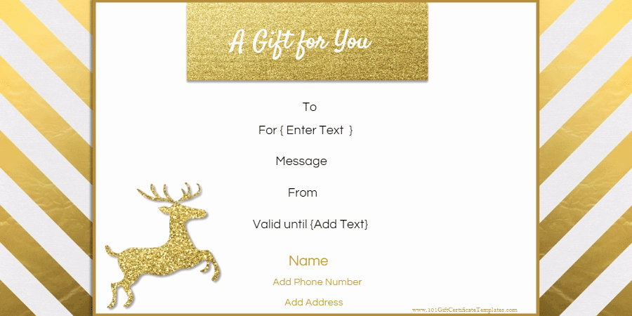 Holiday Gift Certificate Template Luxury Free Editable Christmas Gift Certificate Template