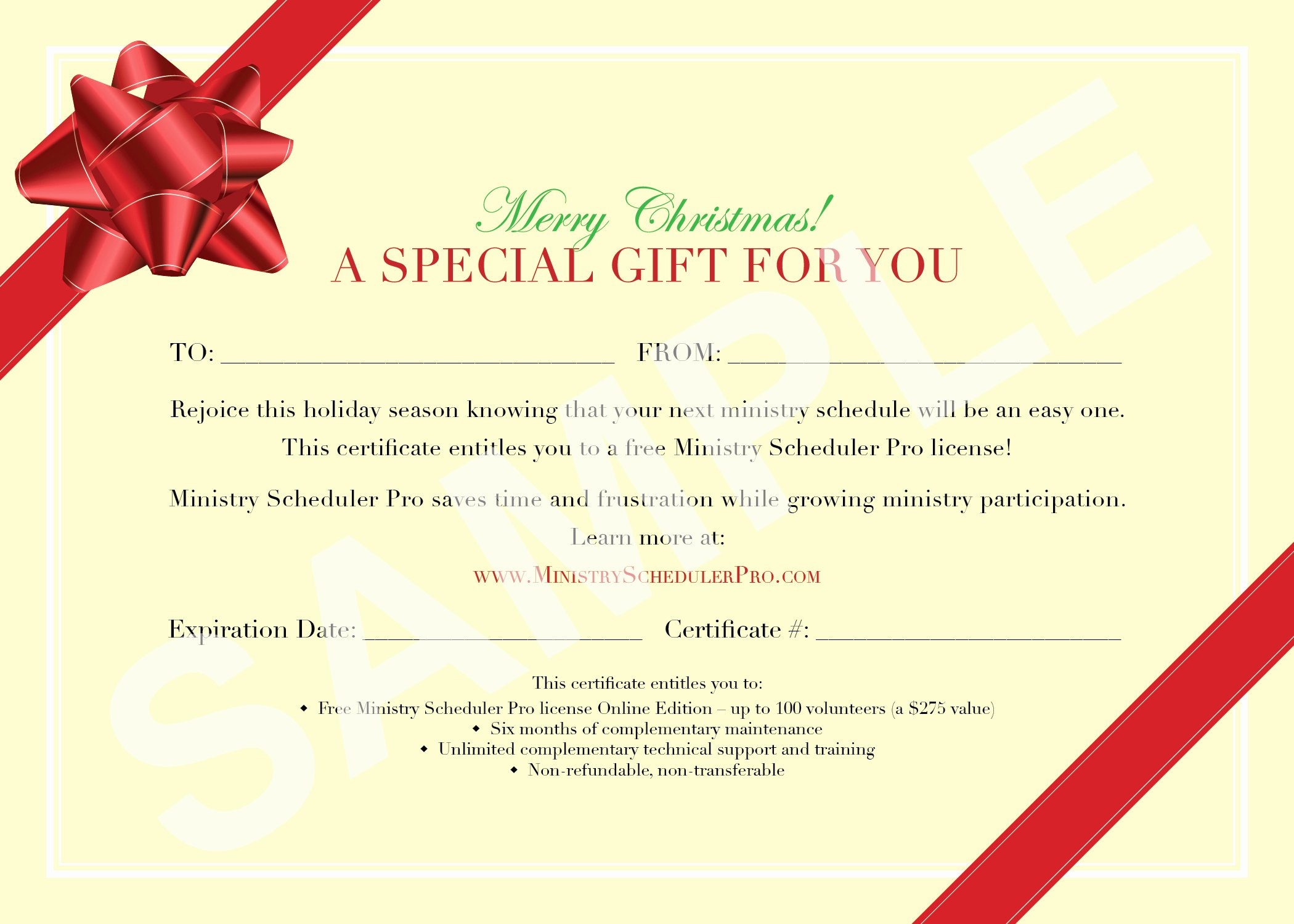 Holiday Gift Certificate Template Unique Christmas Gift Voucher Design Template with Red Ribbon and