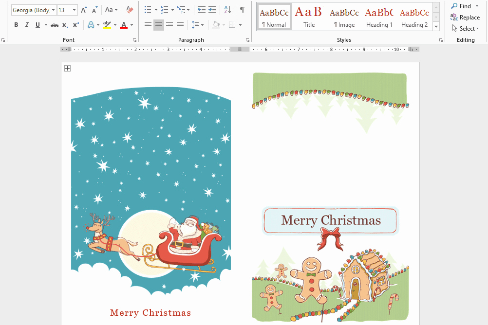 Holiday Hours Template Word Elegant Microsoft S Best Free Diy Christmas Templates for 2018