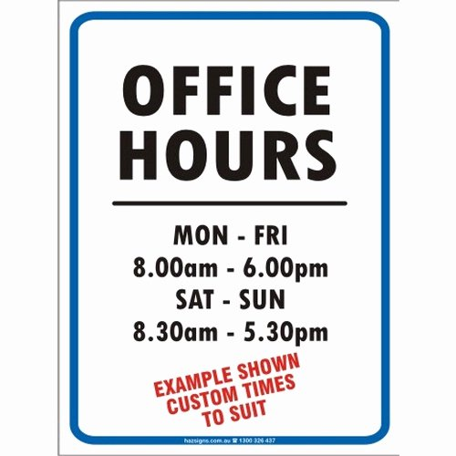 Holiday Hours Template Word Unique Fice Hours Sign Clip Art – Cliparts
