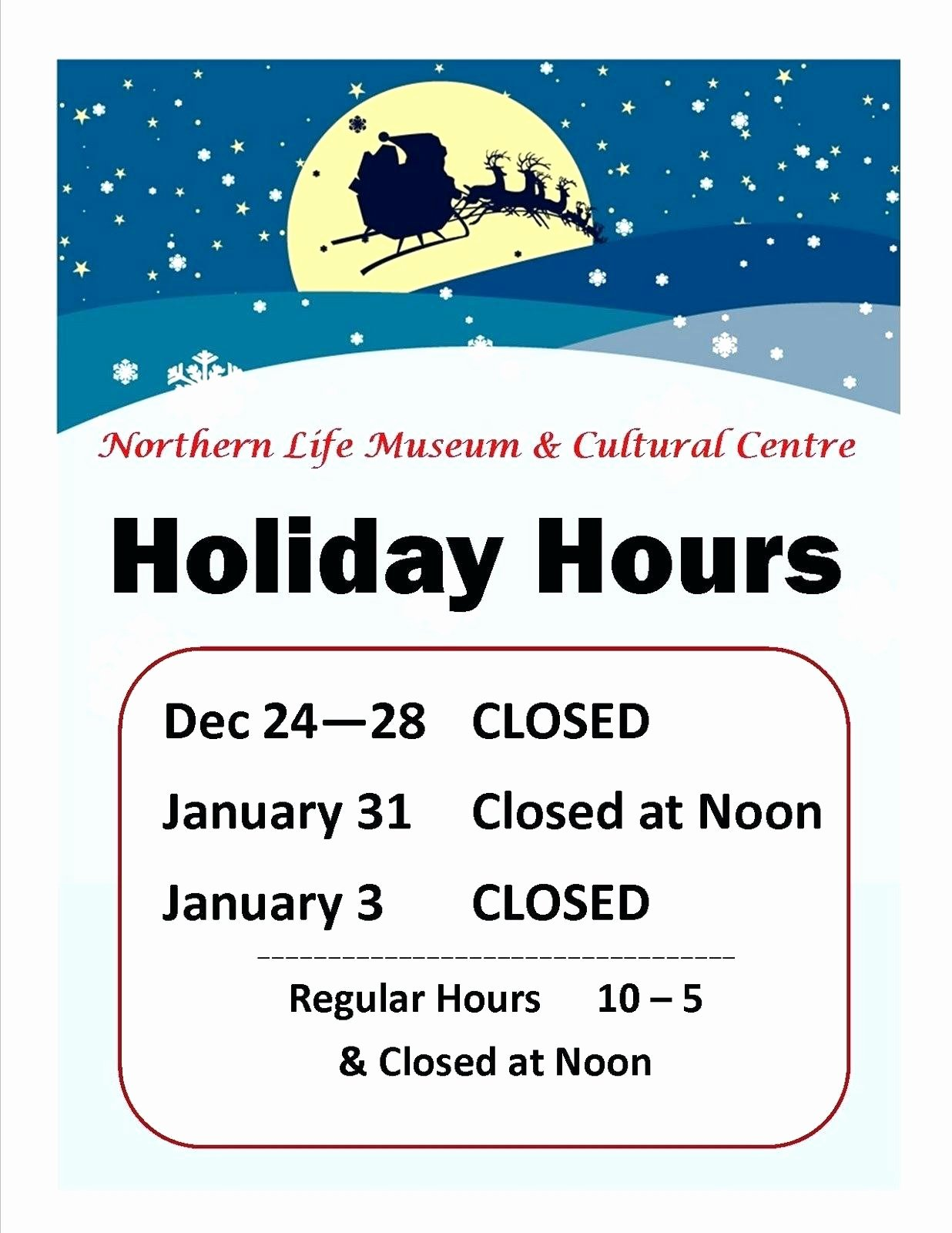 Holiday Hours Template Word Unique Sample Holiday Hours Sign