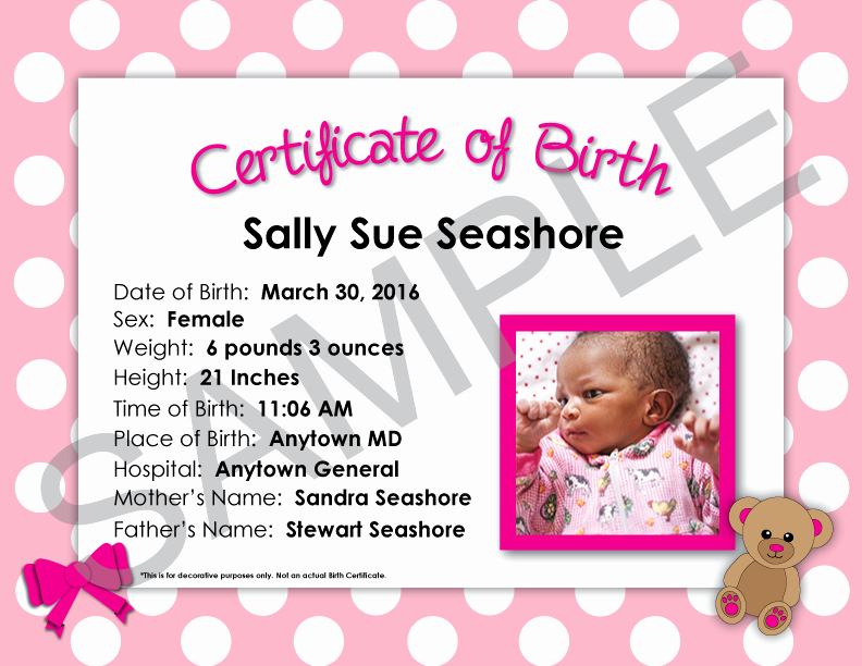 Home Birth Certificate Template Awesome Birth Certificate ordering & Mother S Worksheet Line