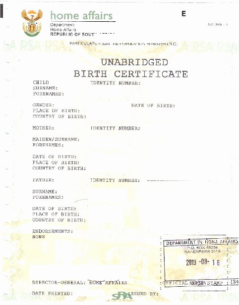 Home Birth Certificate Template Awesome Unabridged Birth Certificate Required for Children Under
