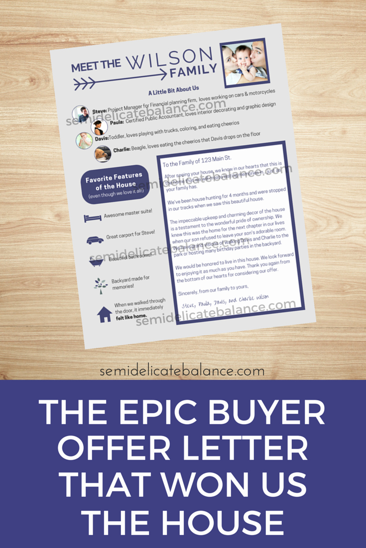 Home Offer Template Elegant the Epic Buyer Fer Letter that Won Us the House