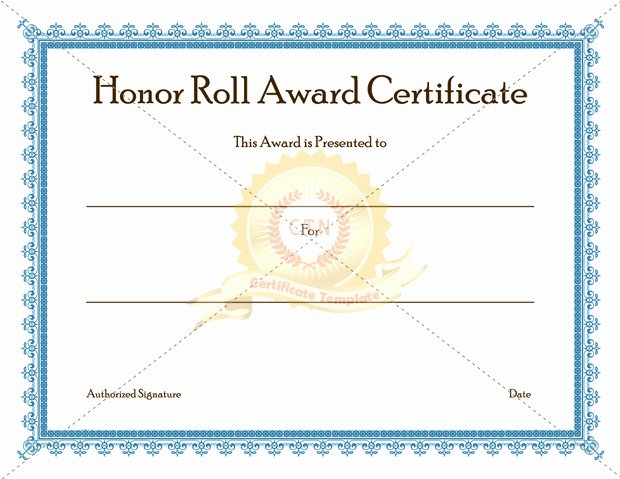 Honor Roll Certificate Template Best Of Certificate Template Category Page 2 Efoza