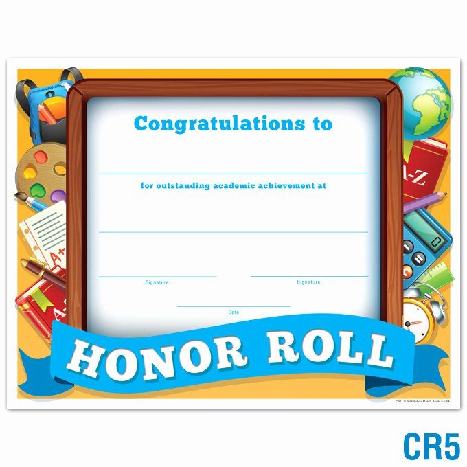 Honor Roll Certificate Template Best Of Product Details Honor Roll Certificate