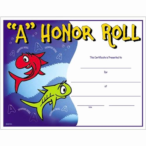Honor Roll Certificate Template Free Beautiful A Honor Roll Certificate 8 1 2 X 11 A Honor Roll Certificates