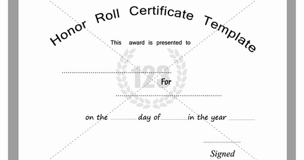 Honor Roll Certificate Template Free Elegant Free and Premium Honor Roll Certificate Templates