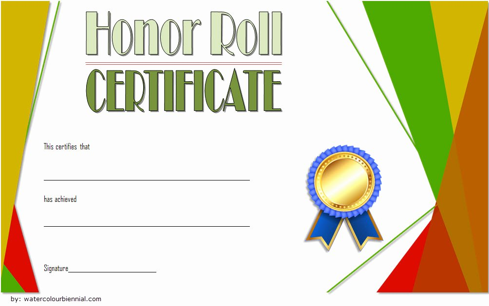 Honor Roll Certificate Template Free Inspirational Editable Honor Roll Certificate Templates 7 Best Ideas