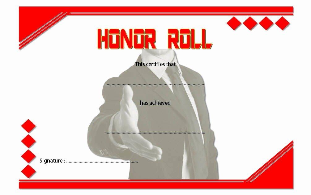 Honor Roll Certificate Template Fresh Editable Honor Roll Certificate Templates 7 Best Ideas