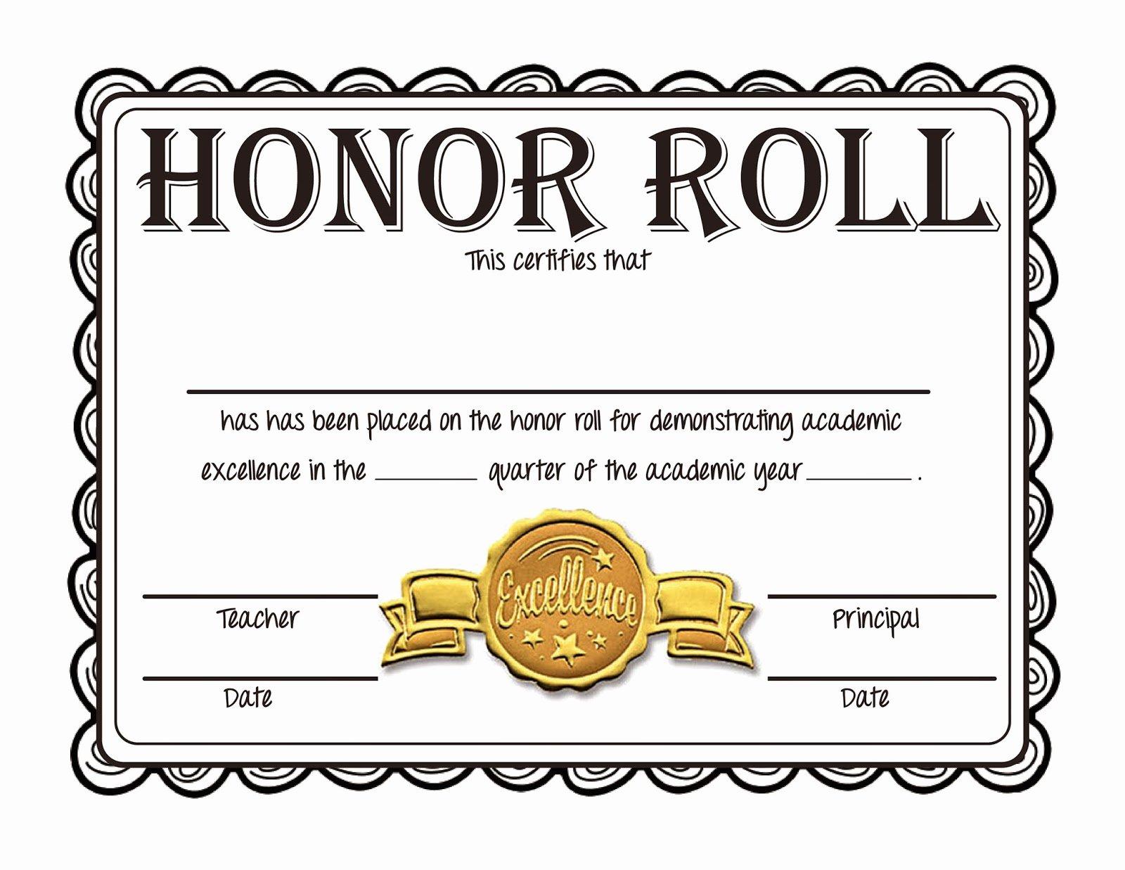 Honor Roll Certificate Template Lovely Steve S Classroom New Freebie Honor Roll Certificates