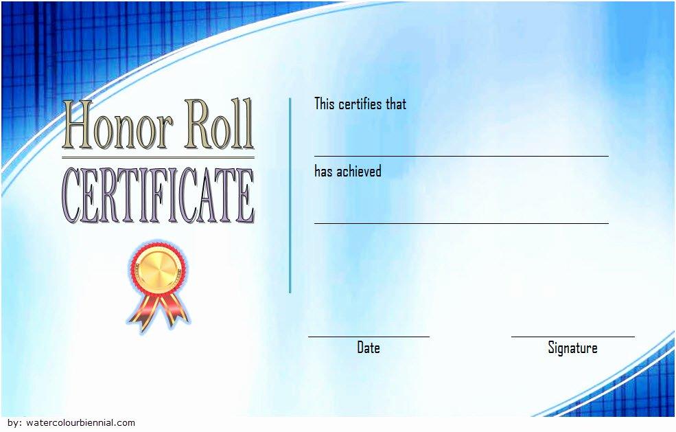 Honor Roll Certificate Template Unique Editable Honor Roll Certificate Templates 7 Best Ideas