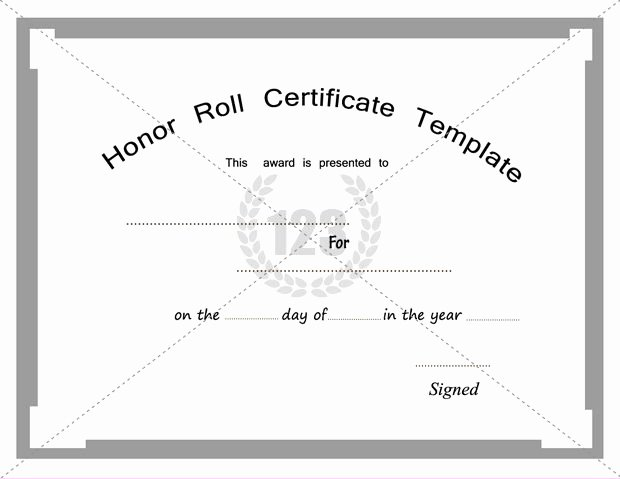 Honor Roll Certificate Template Unique Free and Premium Honor Roll Certificate Templates
