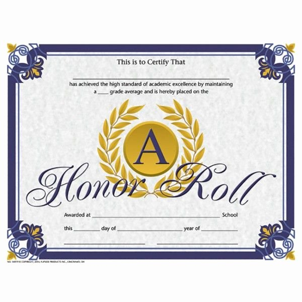 Honor Roll Certificate Templates Free Fresh Pin by Canva Education Layouts On School Certificate Ideas