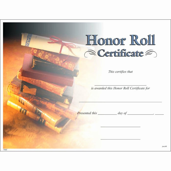 Honor Roll Certificates to Print for Free Awesome Honor Roll Certificate Pack Of 15