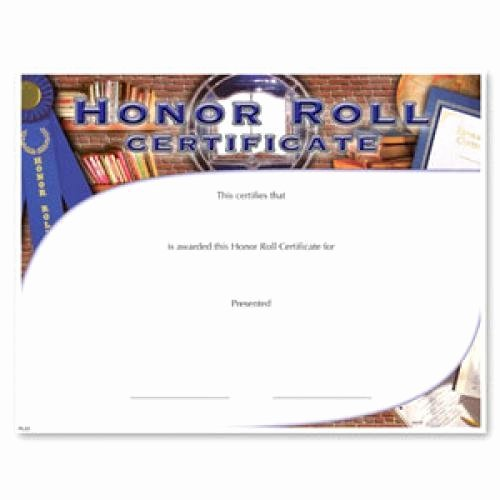 Honor Roll Certificates to Print for Free Elegant Fill In the Blank Certificates