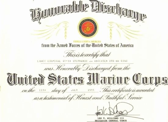 Honorable Discharge Certificate Template Awesome Honorable Discharge Certificate Picture Of Jacksonville