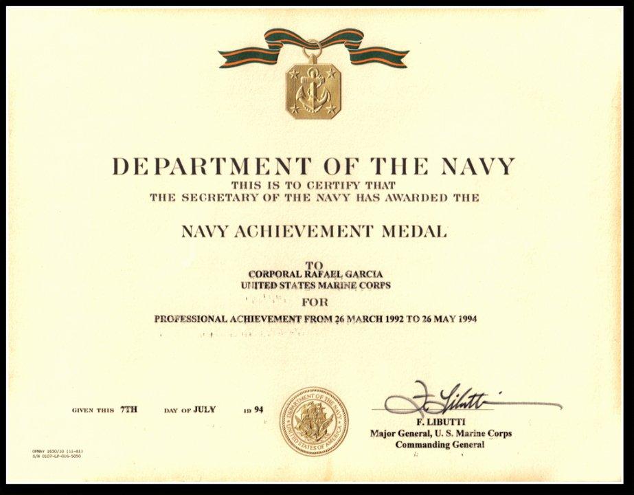 Honorable Discharge Certificate Template Beautiful Editable Military Rafael Garcia Navy Honorable Discharge