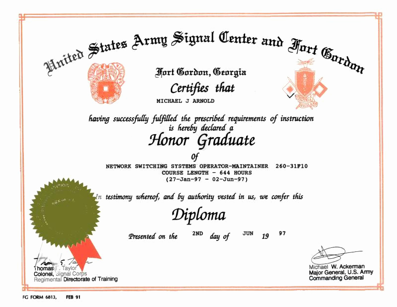Honorable Discharge Certificate Template New 11 Of Navy Graduation Certificates Template