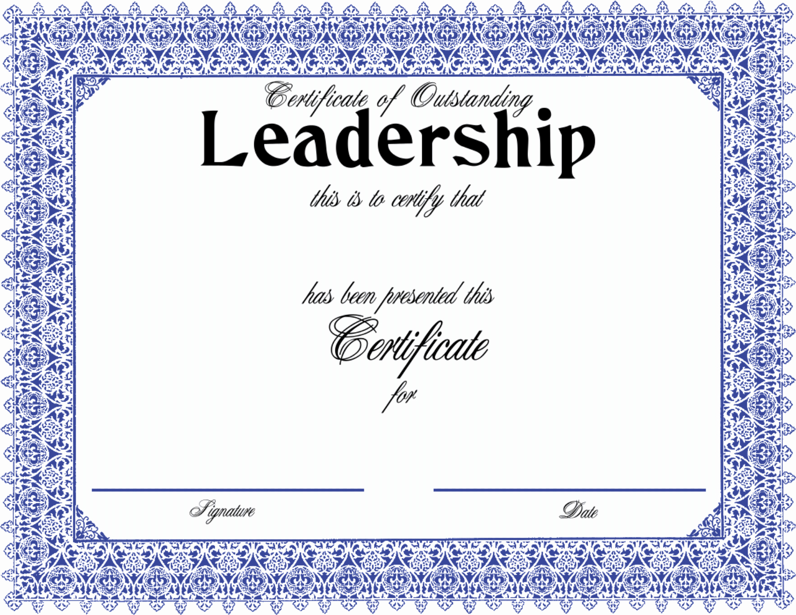 Honorable Discharge Certificate Template New Download Certificate Outstanding Leadership with A