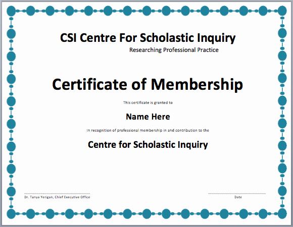 Honorary Life Membership Certificate Template Inspirational 29 Of Membership Certificate Template