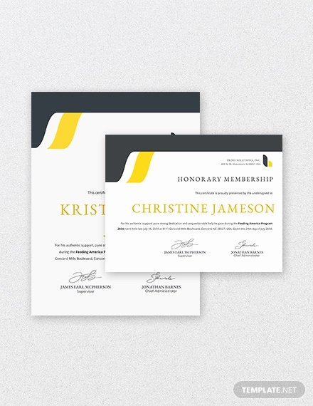 Honorary Life Membership Certificate Template Luxury Certificate Of Honorary Template 8 Word Psd Ai format