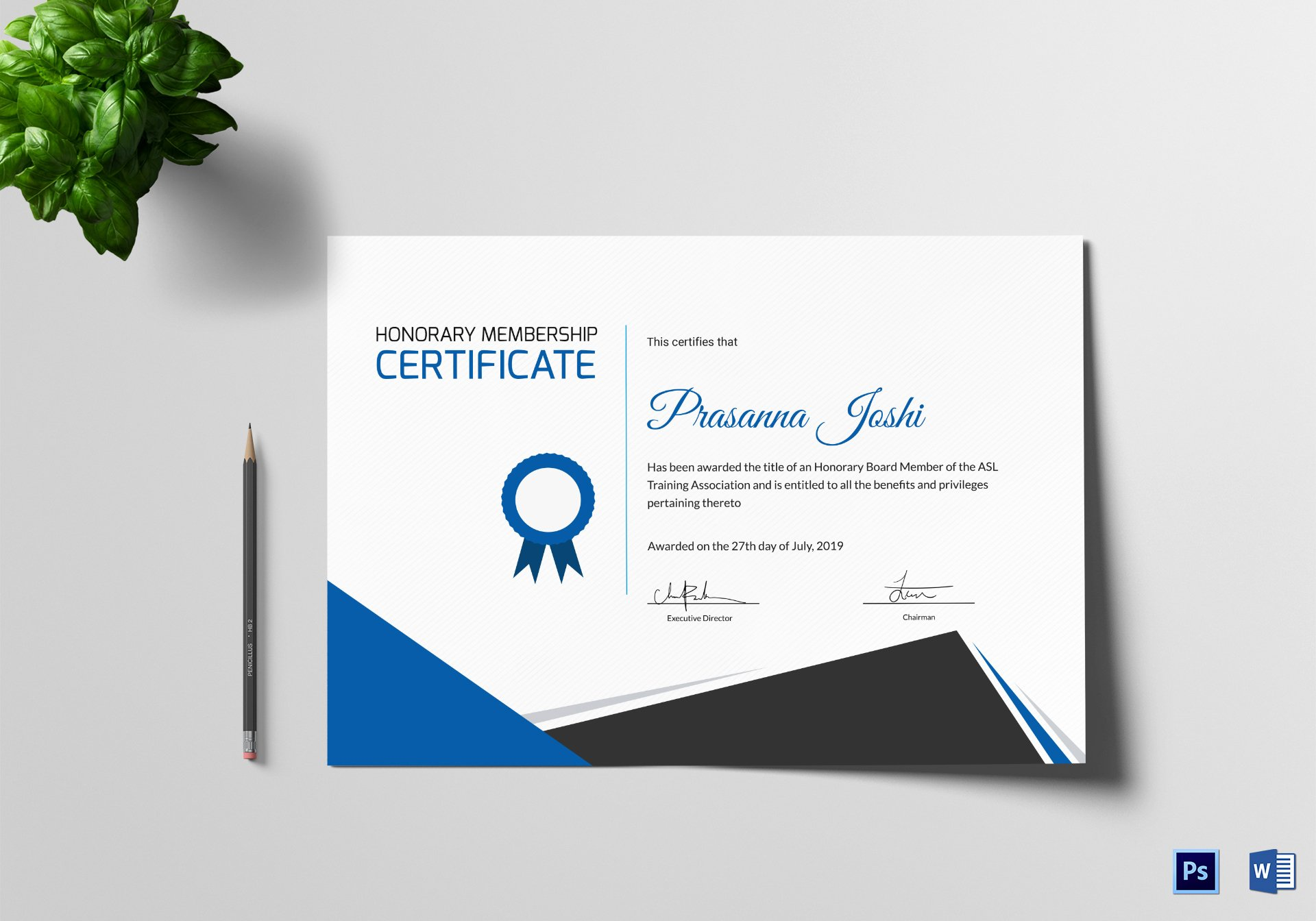 Honorary Member Certificate Template Beautiful Certificate Of Honorary Training Design Template In Psd Word
