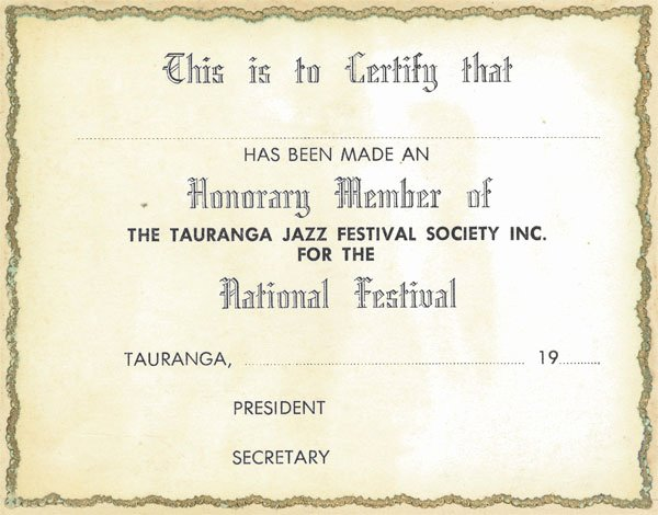 Honorary Member Certificate Template Fresh Honorary Member Sample Certificate Of Tauranga Jazz